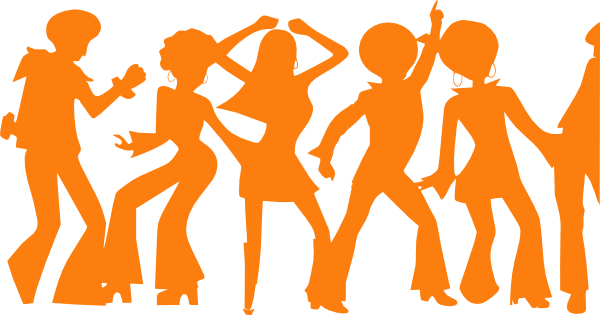 600x315 Party Silhouette Transparent Clipart Collection