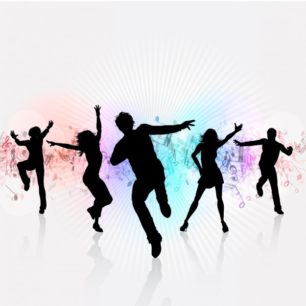 625x626 People Partying Clipart Group