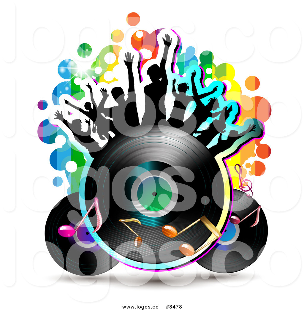 1024x1044 Royalty Free Cliprt Vector Logo Of Silhouetted Dancers On