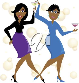 333x350 Clip Art Illustration Of A Cartoon Of African American Women