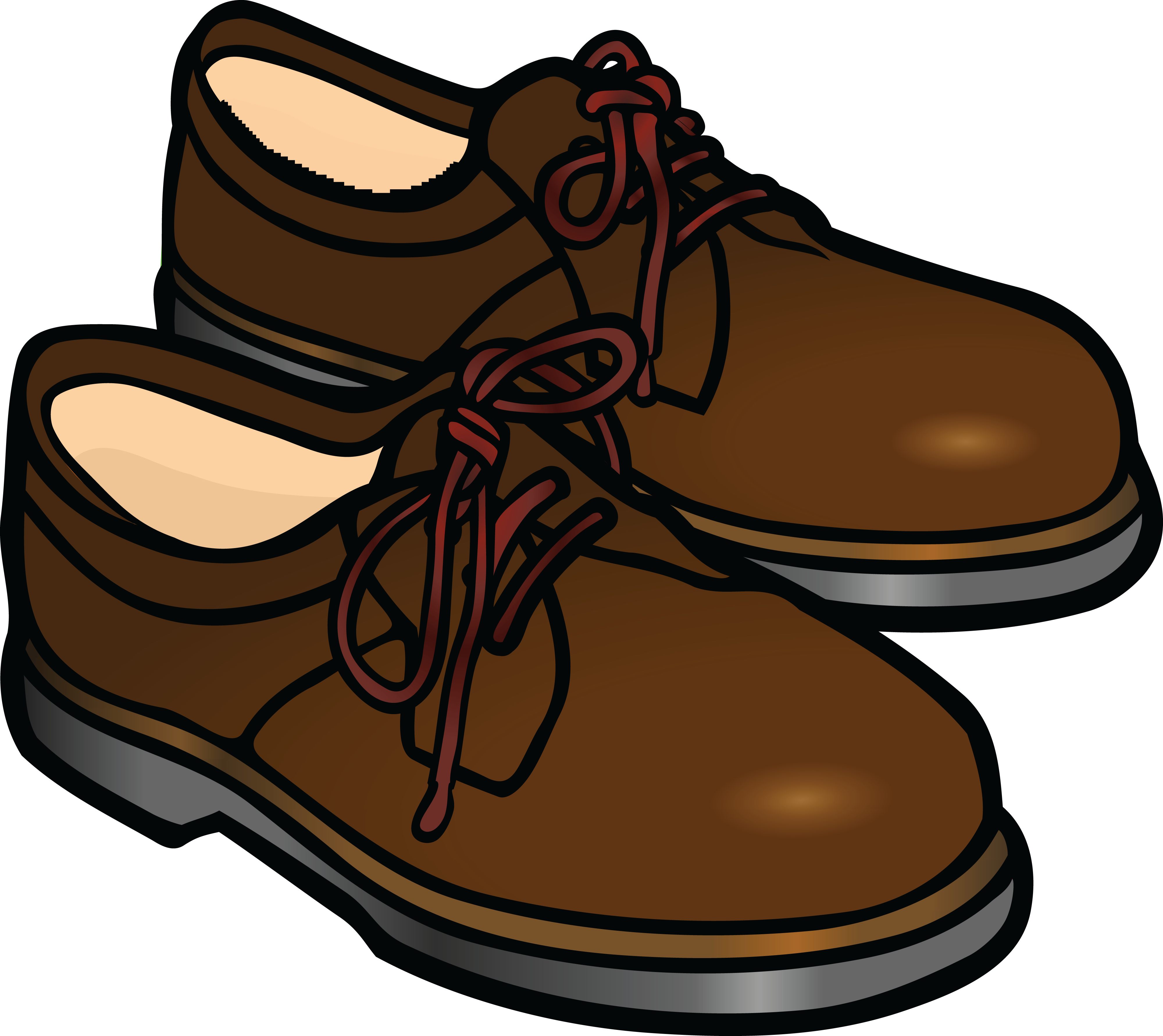 4000x3563 Free Clipart Of A Pair Of Mens Shoes