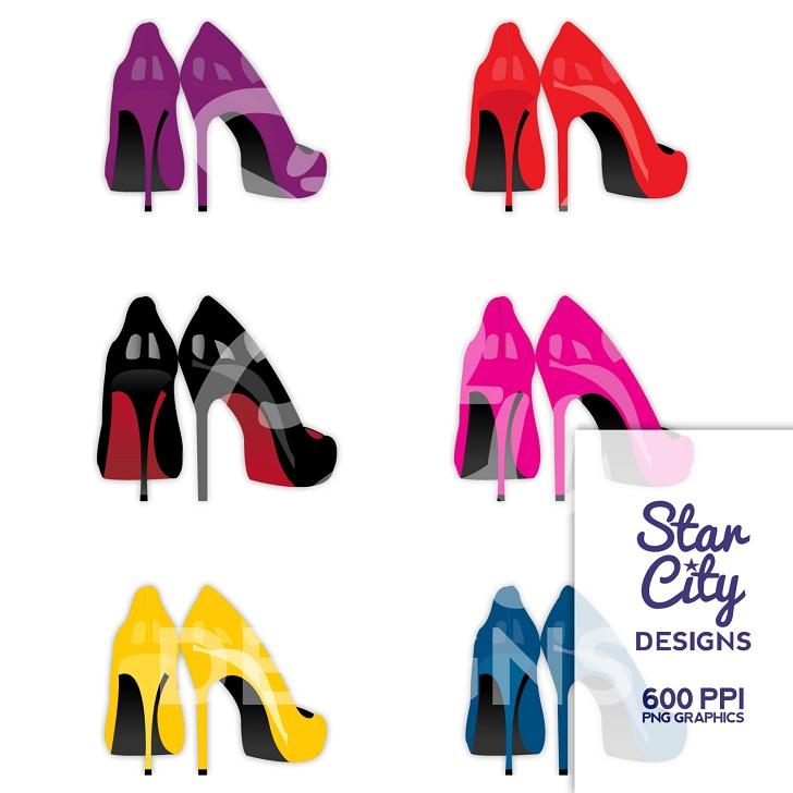 728x728 Golf Shoe Clip Art, Shoe Heels Clipart,