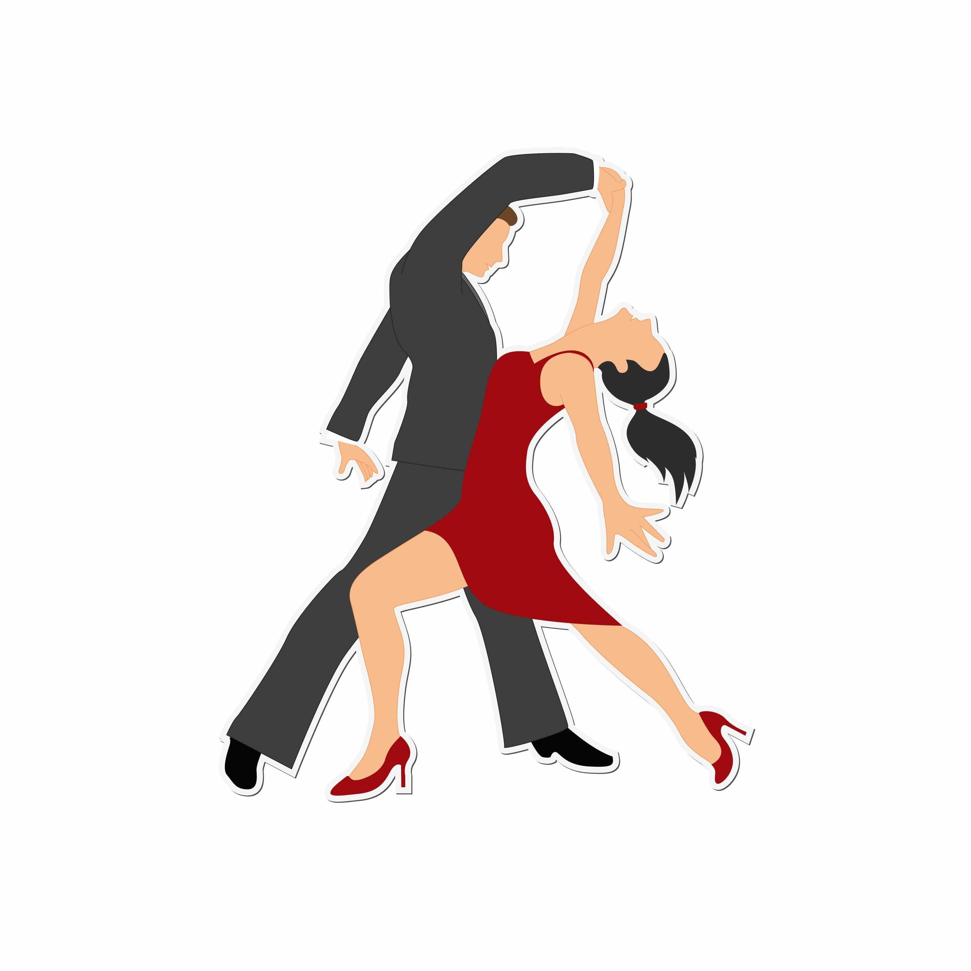 3333x3333 West Coast Swing Dancers Clip Art Royalty Free Cliparts Vectors