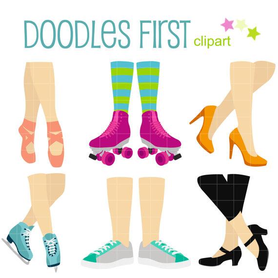 570x570 Women's Feet Dance And Activities Clip Art