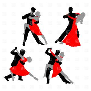300x300 Dancing Couple Tango Vector Clipart Shopatcloth