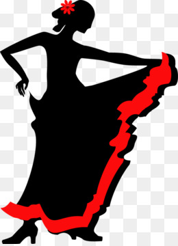 260x360 Group Dance Silhouette Clip Art