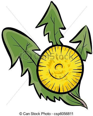 375x470 Cartoon Dandelion. Clipart