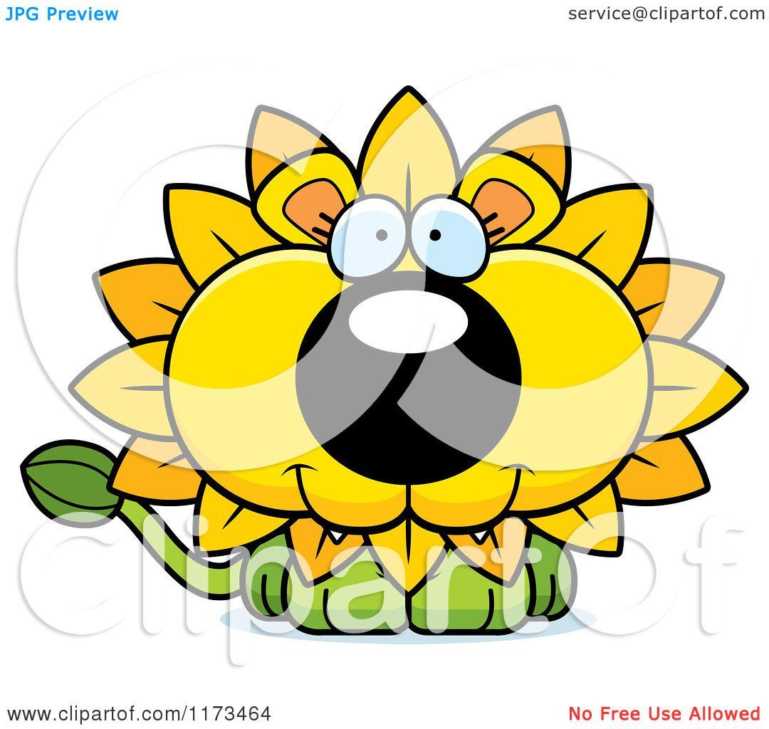 1080x1024 Cartoon Of A Happy Dandelion Flower Lion Mascot