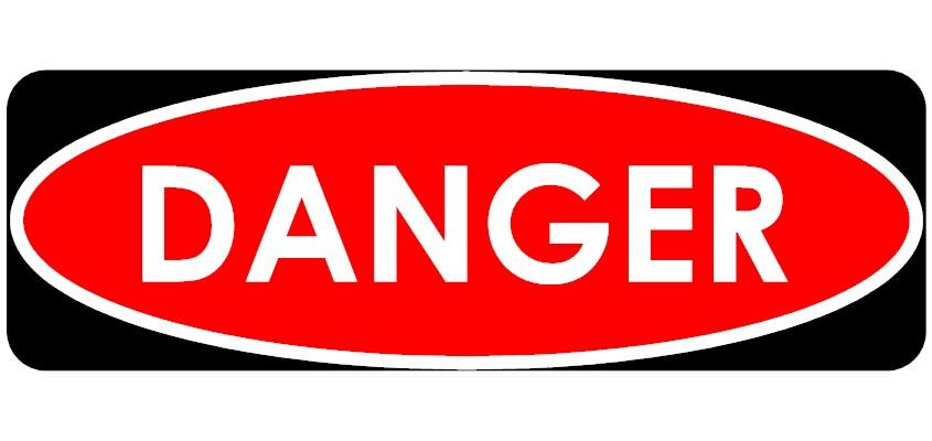 845x400 Danger Sign Clipart