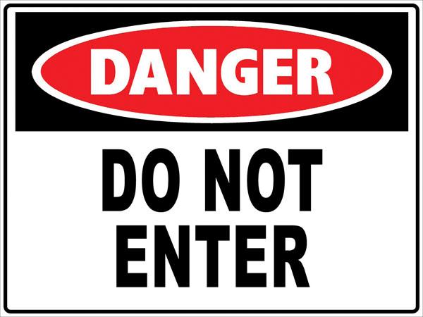 600x450 Danger Signs Clipart