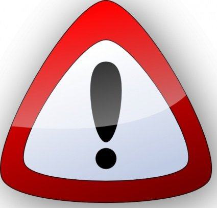 425x406 Free Warning Danger Sign Clipart And Vector Graphics