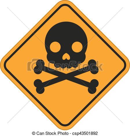 450x470 Skull And Crossbones Symbol, Danger Sign. Vector Eps Vectors
