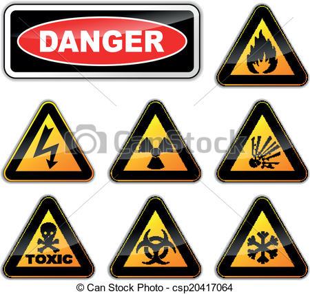 450x427 Vector Danger Signs. Vector Illustration Of Danger Signs