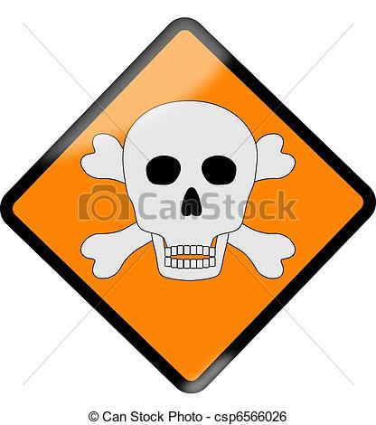 416x470 Yelow Danger Sign Stock Illustration