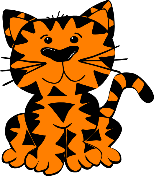 522x596 Free Tiger Clip Art Pictures