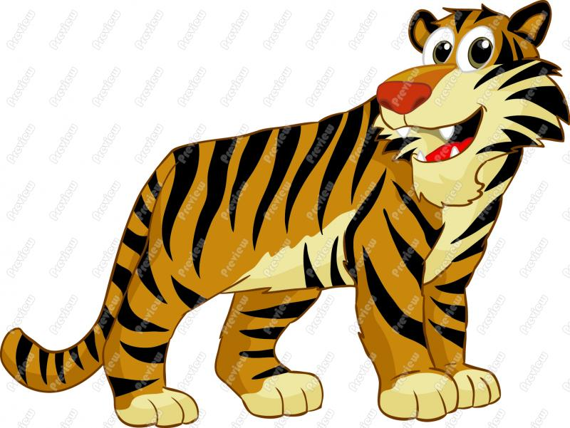 800x601 Animated Tiger Clipart