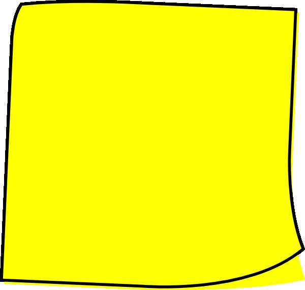 600x569 Yellow Note Clip Art