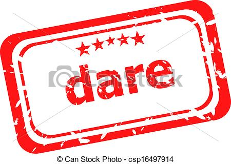 450x320 Dare Word On Red Rubber Old Business Stamp Clipart