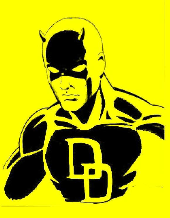 580x743 Daredevil Stencil By Warholstein