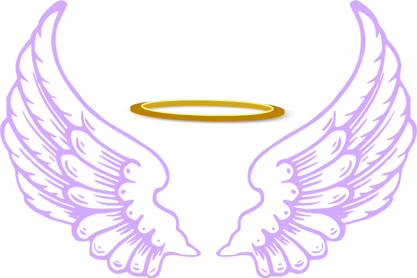 600x401 Clipart Of Angels With Halos Dark Angel Halo Pencil And In Color