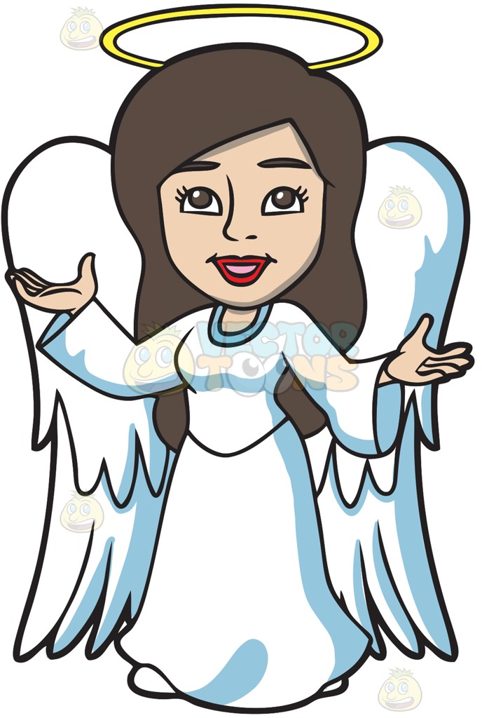 688x1024 A Divine Angel On A Solid Dark Blue 011936 Background Cartoon