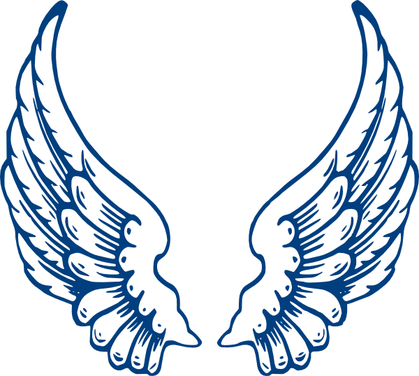 600x538 Angel Wings Clipart