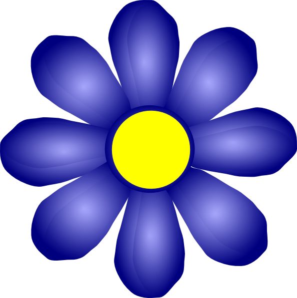 594x597 Dark Blue Clipart Dark Purple Flower