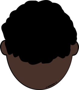 261x299 Back Of Dark Skin Man Clip Art