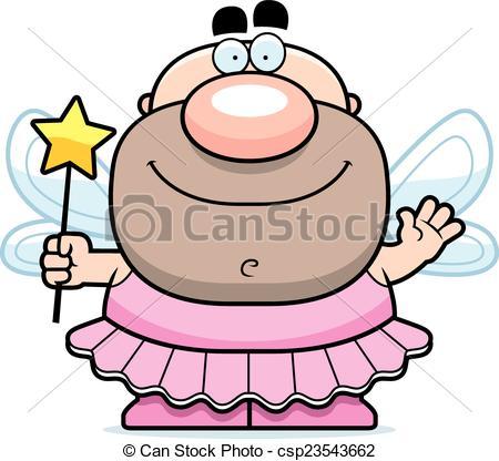 450x416 Waving Cartoon Tooth Fairy. A Cartoon Illustration Of The Clip