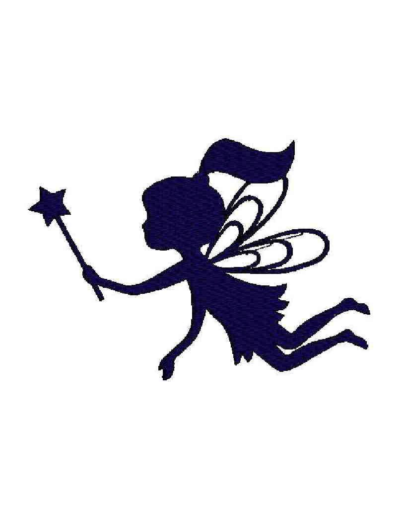816x1056 Black And White Fairies Clipart