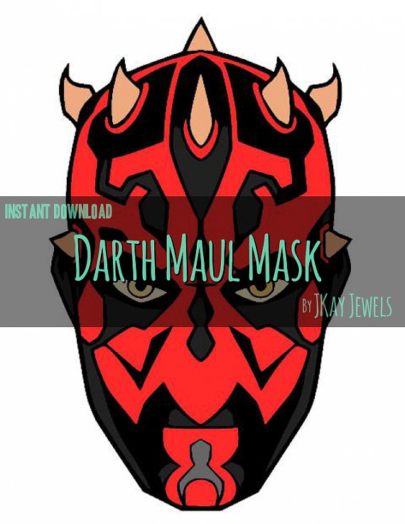 570x737 Darth Maul Photobooth Mask Star Wars Silhouette Svg File