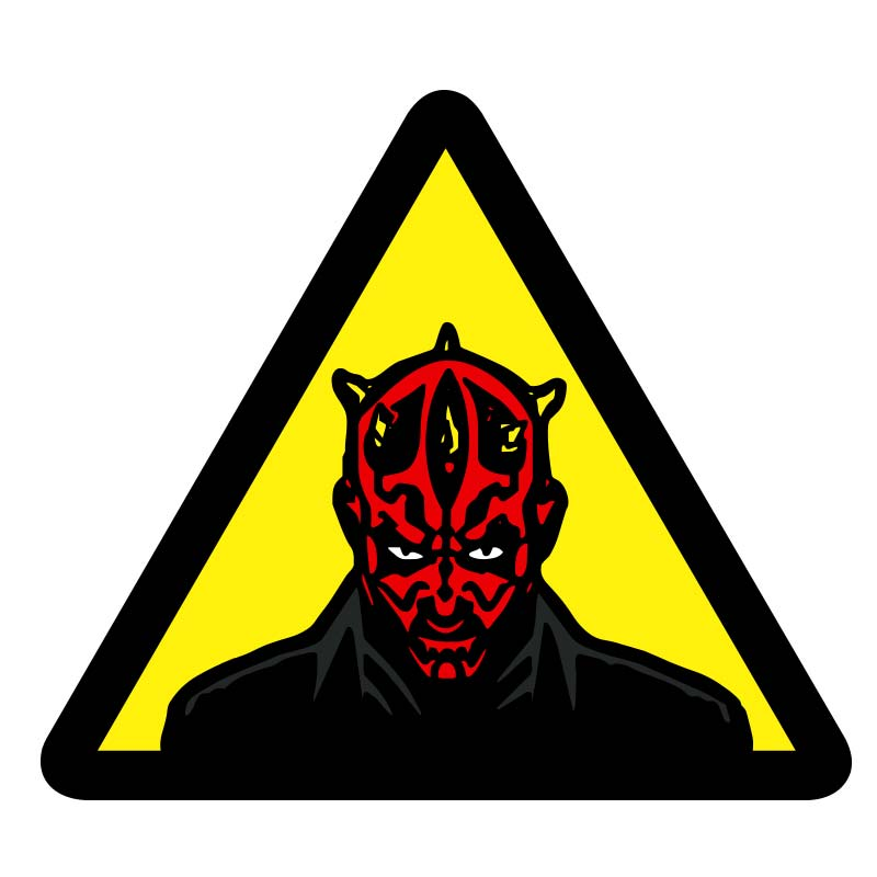800x800 Darth Maul Warning Sticker