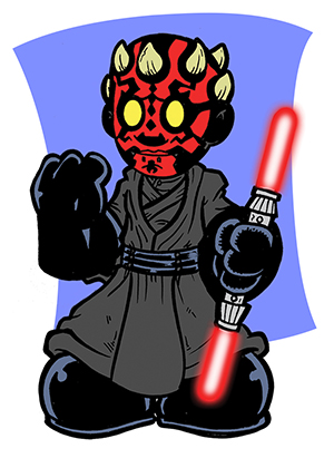 300x420 Mini Darth Maul By Artofjoshlyman
