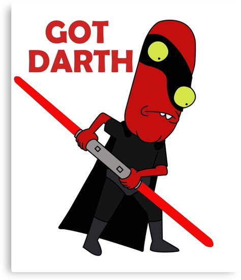 474x550 Noob Noob Darth Maul Got Darth Canvas Prints By Meowlbertwhiskr