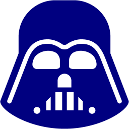 256x256 Free Navy Darth Vader Icon
