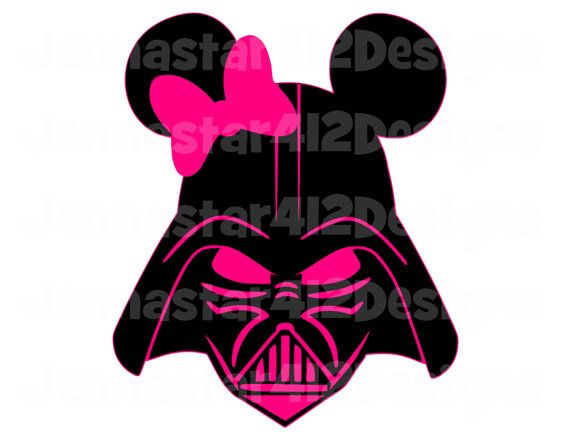 570x440 Star Wars Darth Vader Mickey Pink Bow Diy Printable Iron