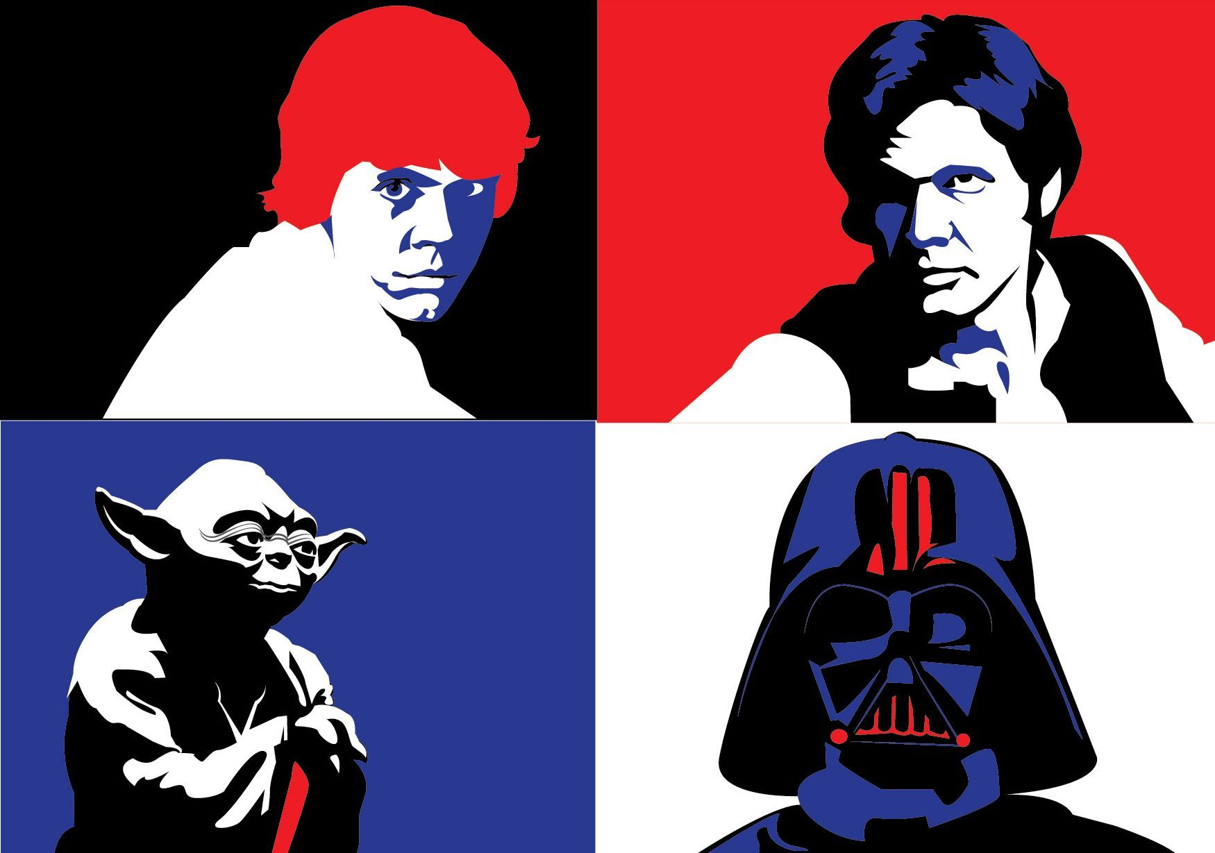 1750x1229 Star Wars Vectors, Starwars, Darth Vader, Skywalker, Han Solo