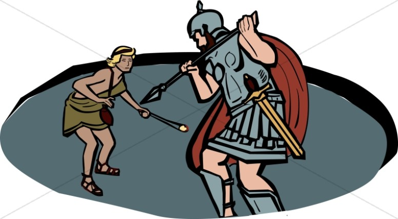 776x428 David Versus Goliath Old Testament Clipart