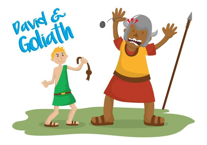 700x490 David And Goliath Vector Illustration