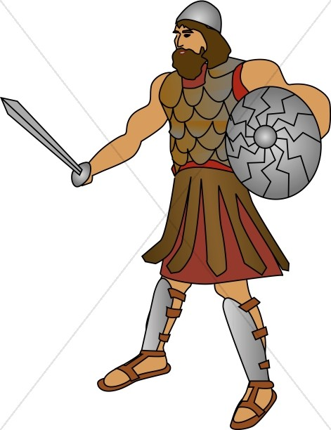 471x612 Goliath The Philistine Giant Old Testament Clipart