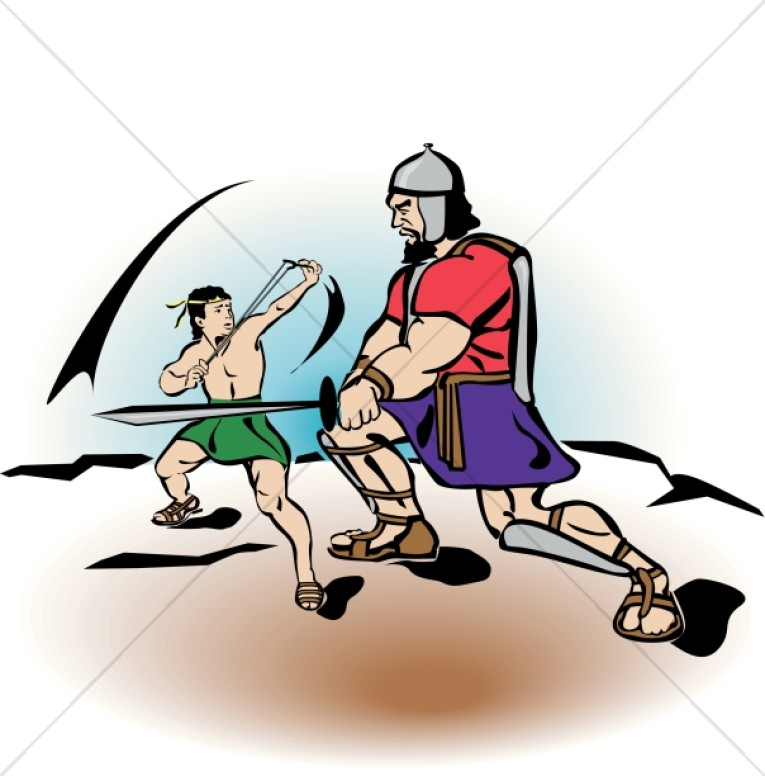 765x776 David Battles Goliath Childrens Church Clipart
