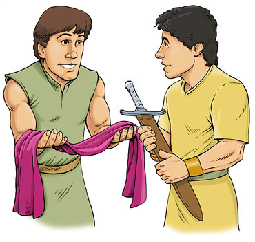 370x350 David And Jonathan Clip Art