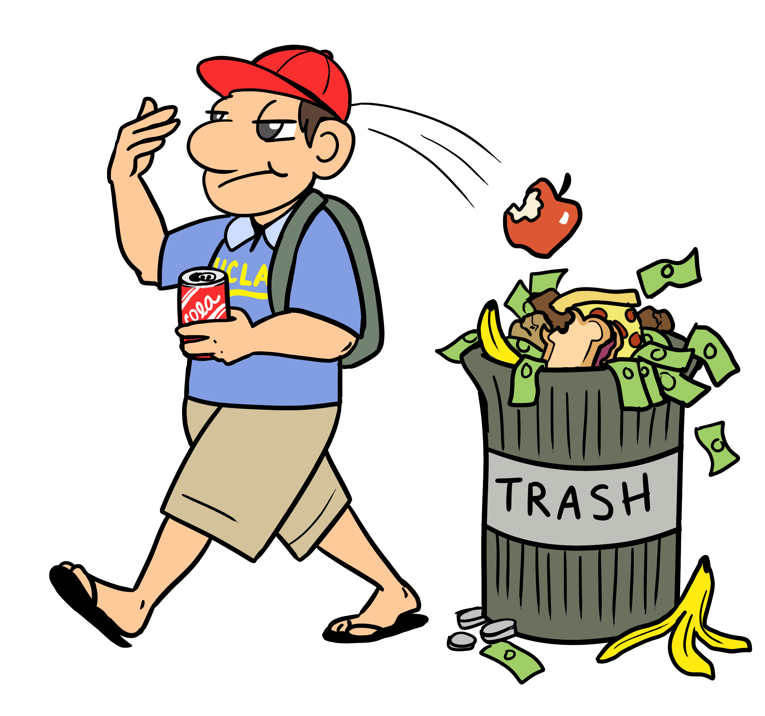 2550x2388 Sweet Design Garbage Clipart Trash Can Illustrations And Clip Art