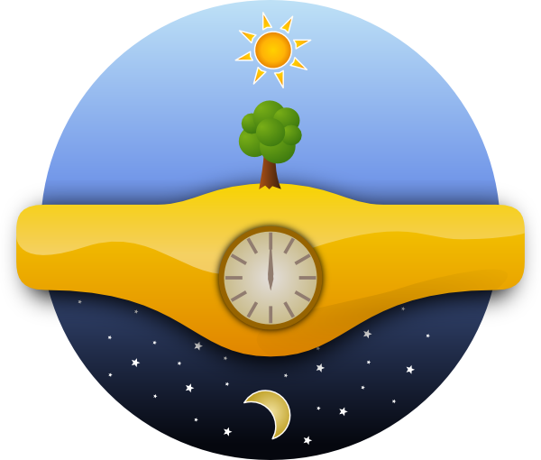 600x510 Night And Day Clip Art