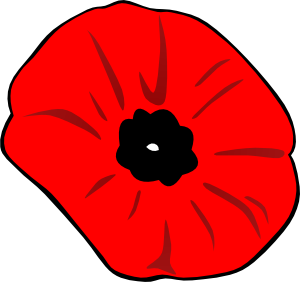 300x282 Poppy Remembrance Day Clip Art
