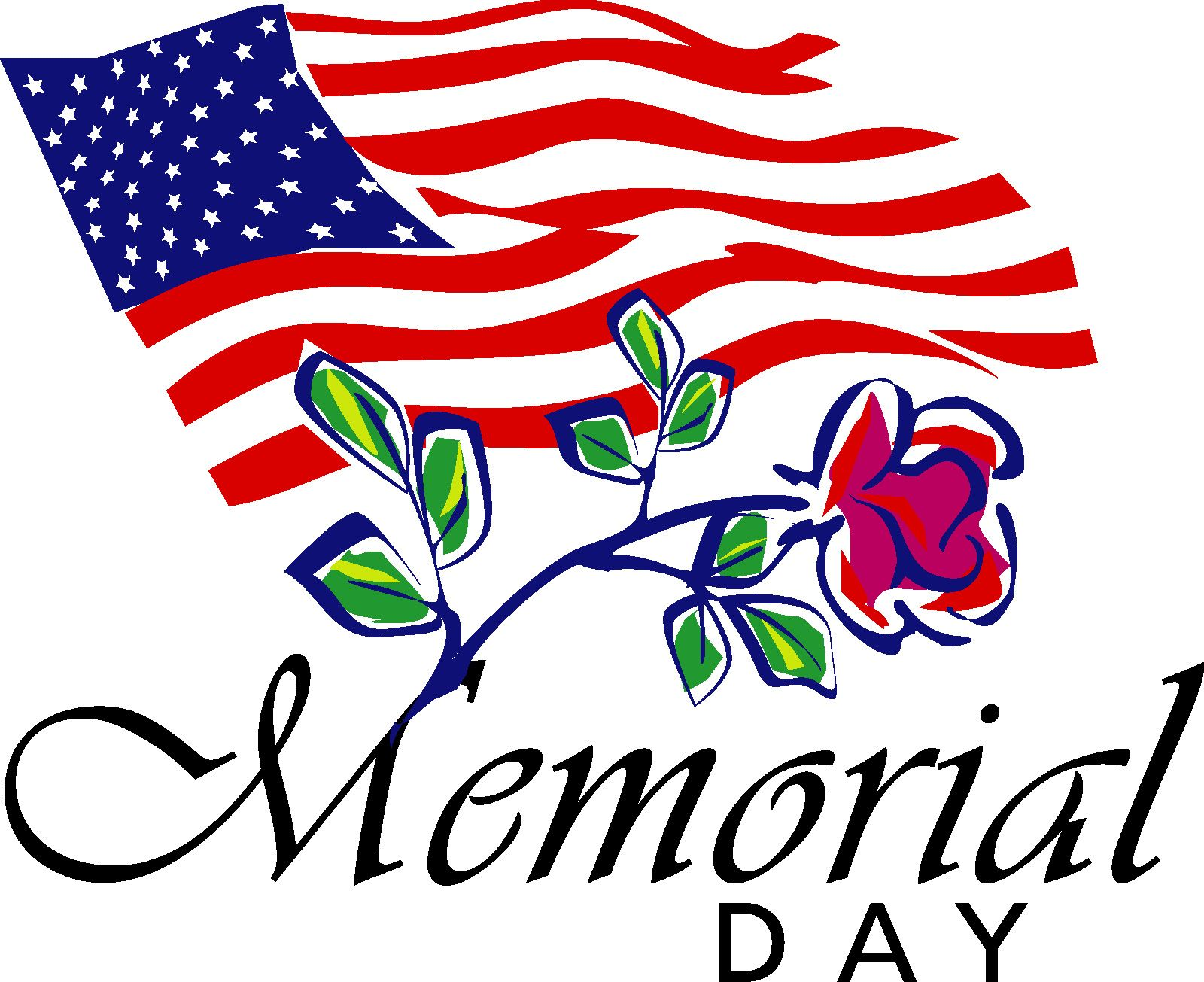 1600x1305 Free Memorial Day Clip Art Flags Free Printable Calendar 2018