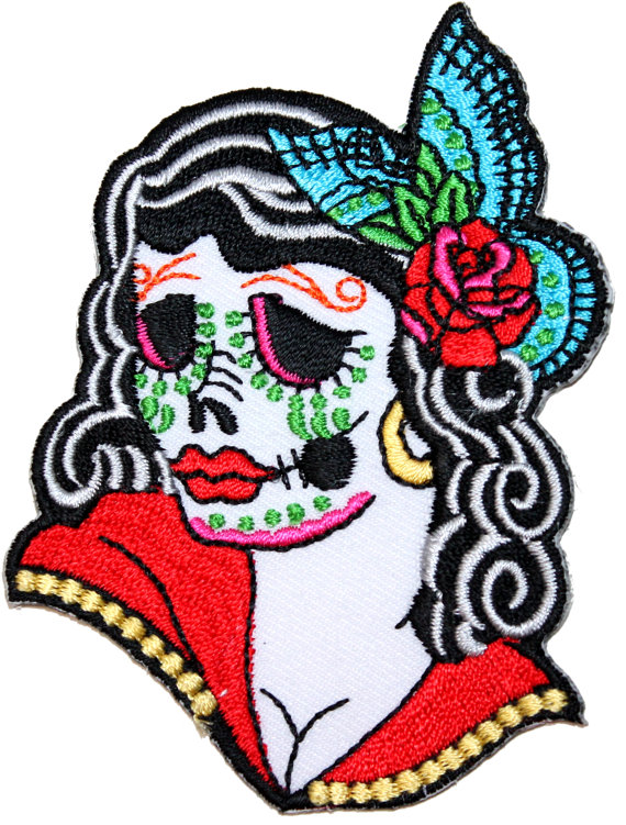 570x751 Day Of The Dead Clipart Woman 17