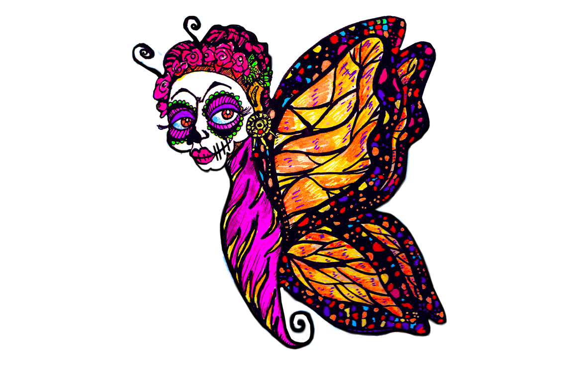 1160x772 Hand Drawn Clip Art Day Of The Dead And Halloween Fairies By