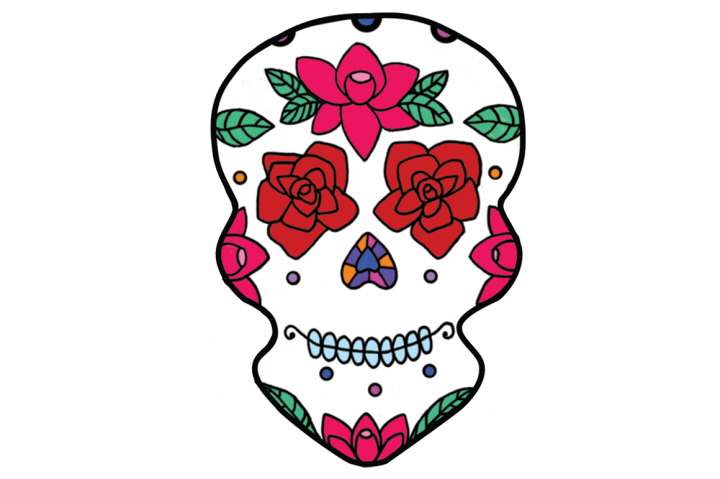 720x479 Clipart Day Of The Dead Skulls