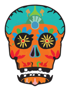 231x300 Day Of The Dead Skull By Potionanimation D Fy M Clip Art